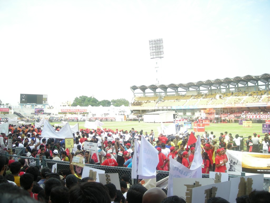 Inside the Kanteerva Stadium Bangalore